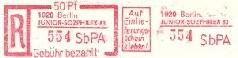 DDR Philatelie Einschreiben SbPA Forschung