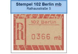 Stempel Berlin mb